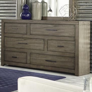 at HOME Modern Loft 6 Drawer Dresser in Greystone, , large