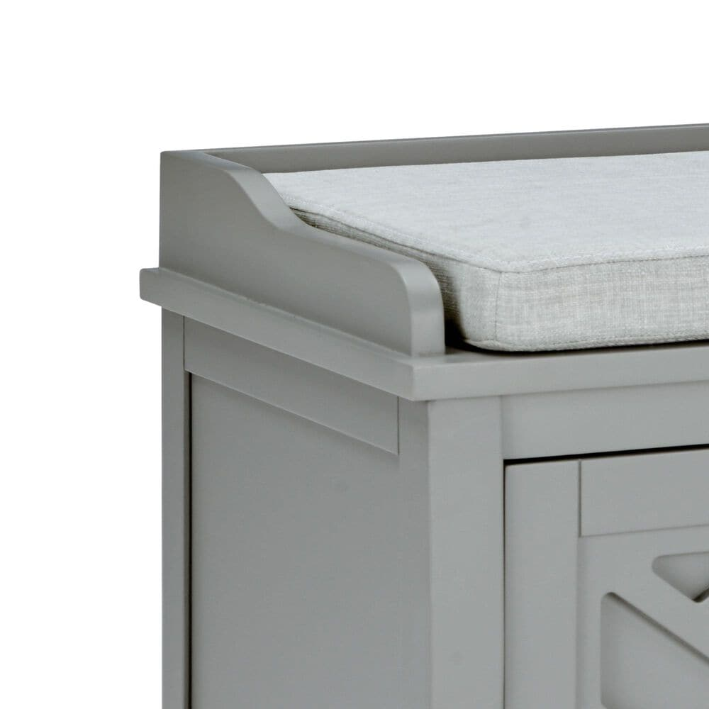 """Bolton Furniture Coventry 45"""" Storage Bench in Gray, , large"""