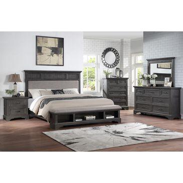 Frankfurt Furniture Prescott 4 Piece Queen Storage Bedroom Set in Gray Oak, , large