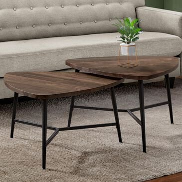 Monarch Specialties 2-Piece Table Set in Brown, , large
