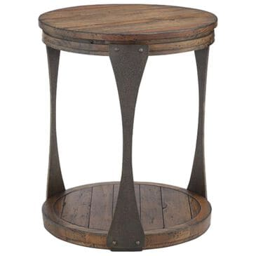 Nicolette Home Montgomery Round End Table in Bourbon, , large