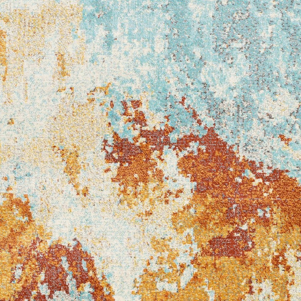 "Surya Bodrum 5'3"" x 7'3"" Orange, Saffron, Gray and Blue Area Rug, , large"