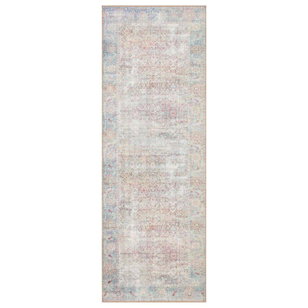 Loloi II Wynter WYN-04 2' x 5' Red/Teal Runner, , large