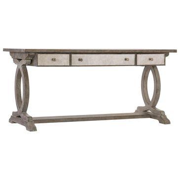 Hooker Furniture Rustic Glam Trestle Desk in Light Wood, , large