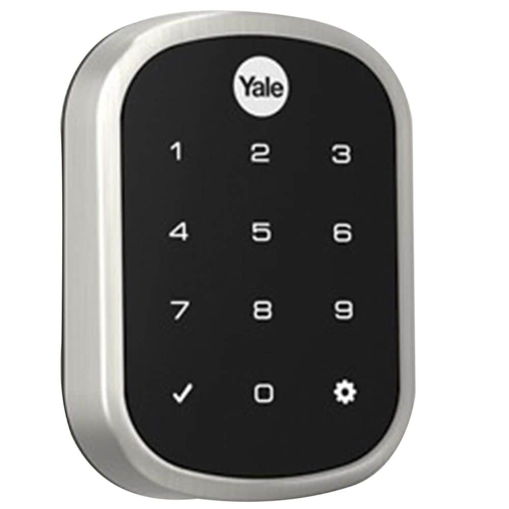 Yale Real Living Assure Lock SL Key Free Touchscreen Deadbolt with Z-Wave - Satin Nickel, , large
