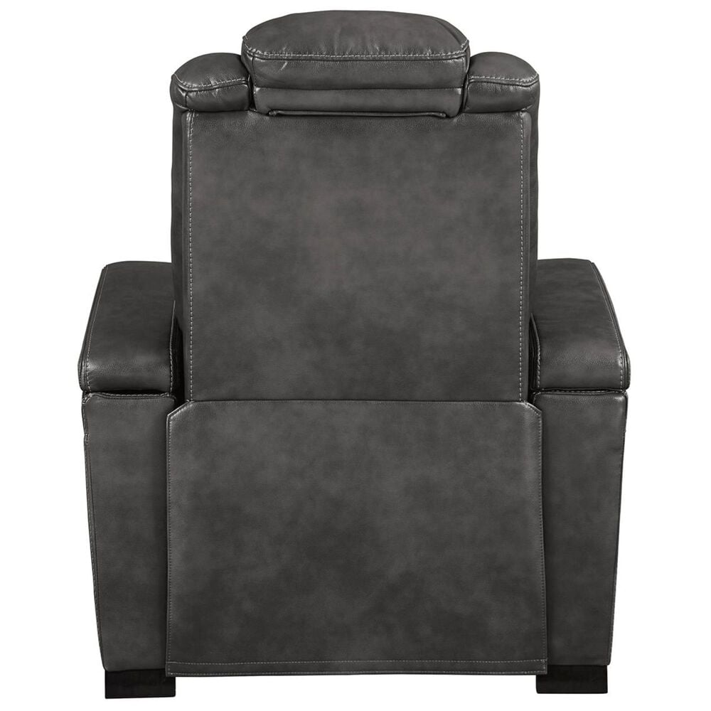 Signature Design by Ashley Turbulance Power Recliner with Adjustable Headrest in Quarry, , large
