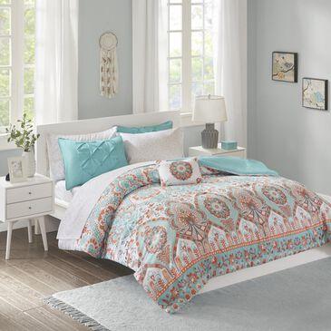 Hampton Park Vinnie 8-Piece Queen Comforter Set in Aqua, , large