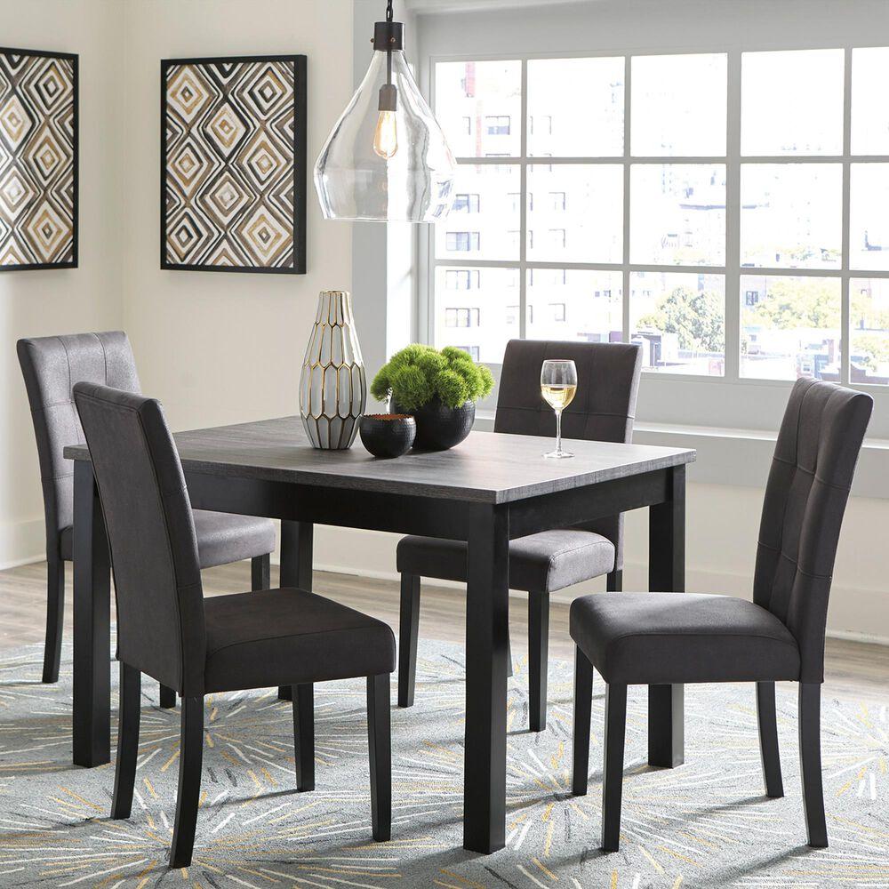 Signature Design By Ashley Garvine 5 Piece Dining Table Set In Gray Nebraska Furniture Mart