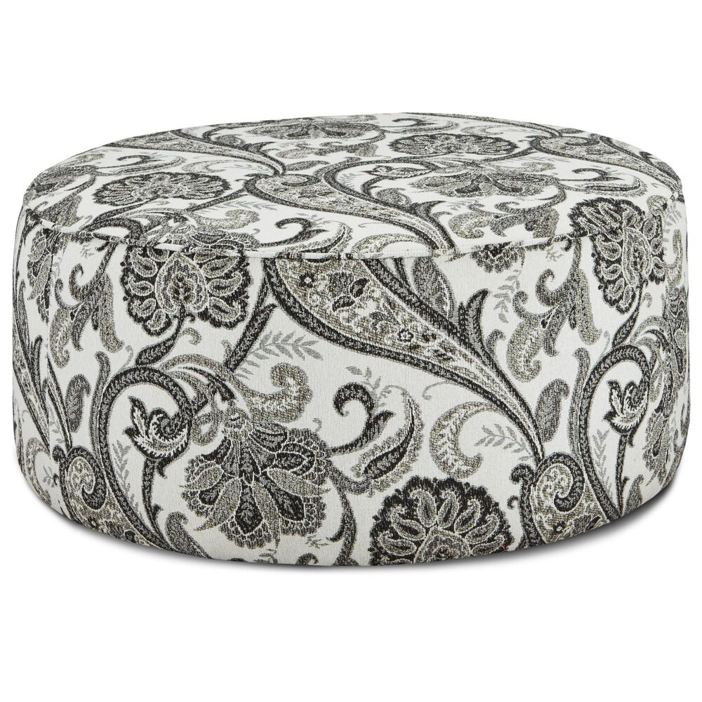 Xenia Round Ottoman in Abby Road, , large