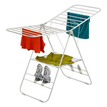 Honey Can Do Heavy Duty Gull Wing Drying Rack in White, , large