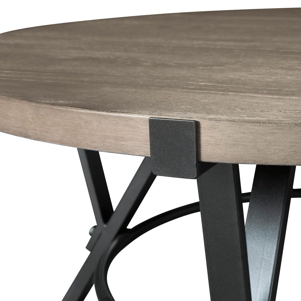 Signature Design by Ashley Zontini Round Cocktail Table in White Oak, , large