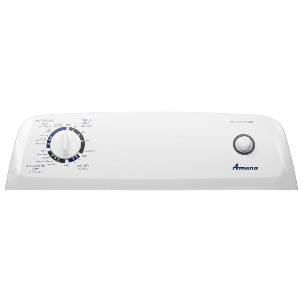 Amana 6.5 Cu. Ft. Gas Dryer with Automatic Dryness Control in White, , large