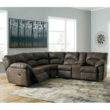 Signature Design by Ashley Tambo 2-Piece Reclining Sectional in Canyon, , large