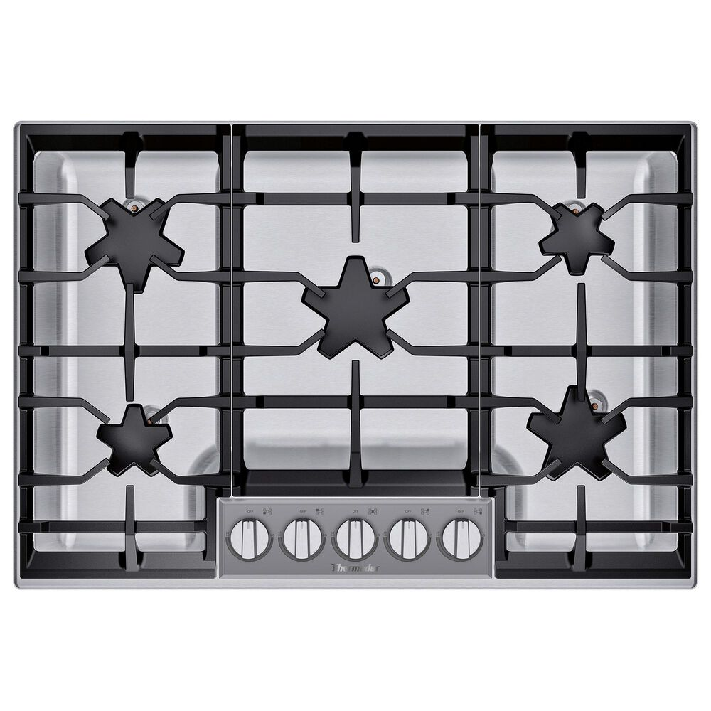 "Thermador 30"" Masterpiece Pedestal Star Burner Gas Cooktop - Stainless Steel, , large"