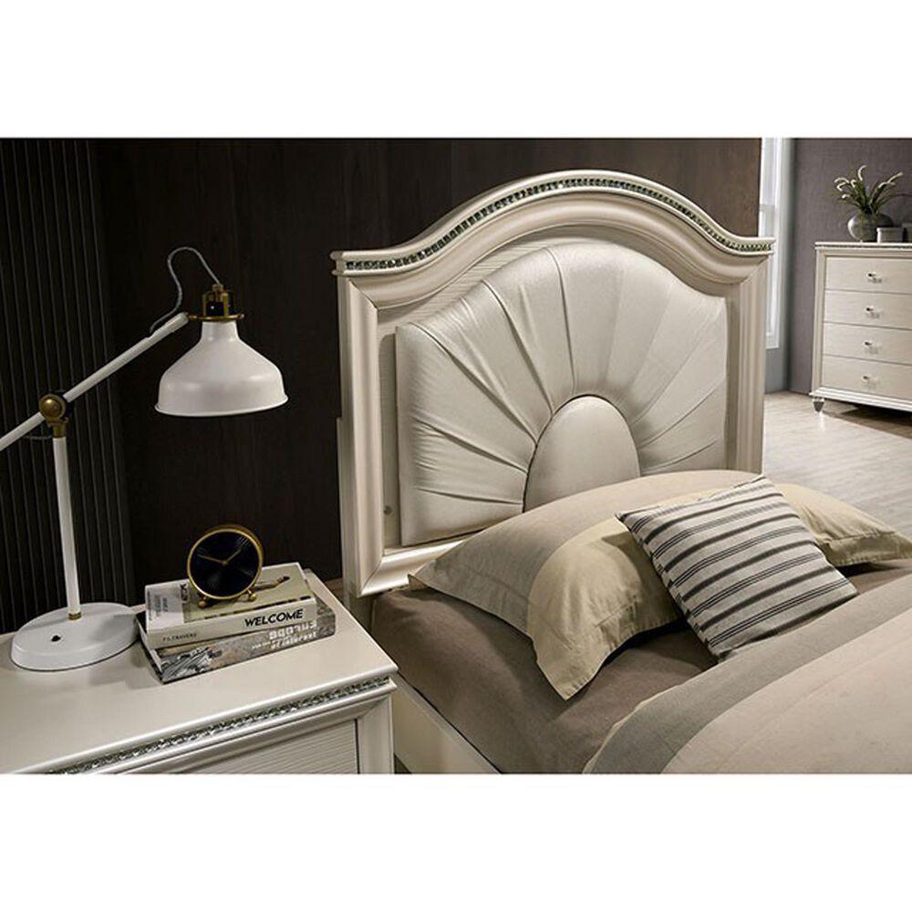 Furniture of America Norris Full Platform Bed in Pearl White, , large