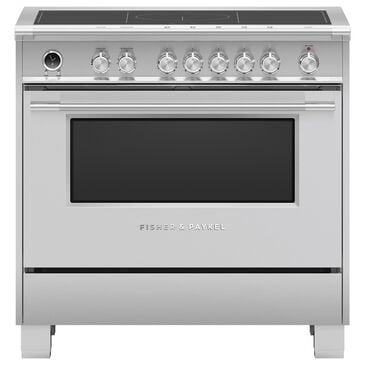 """Fisher and Paykel 36"""" Classic Induction Range with 5 Burners in Stainless Steel, , large"""
