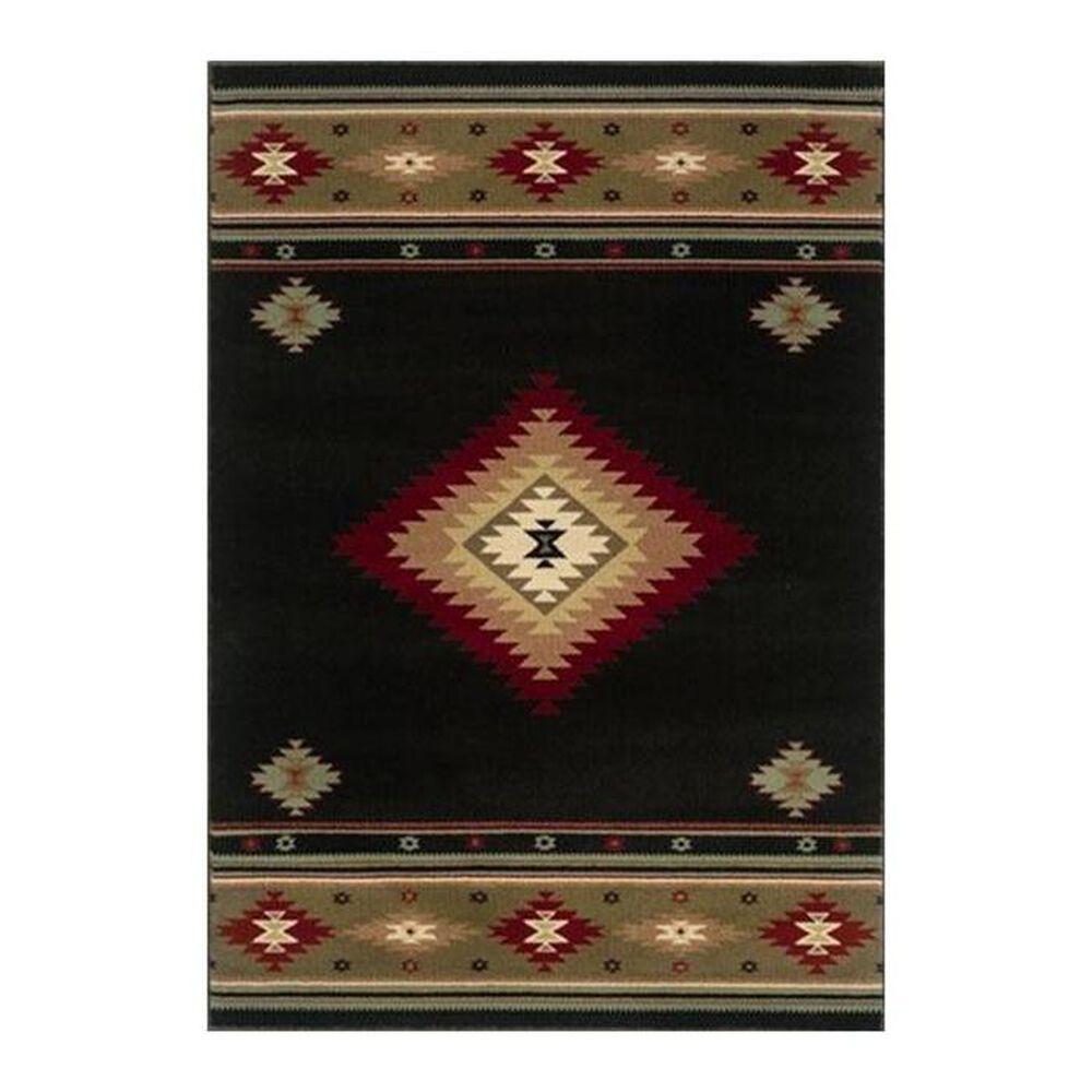 "Oriental Weavers Hudson 87G 6'7"" x 9'6"" Black Area Rug, , large"