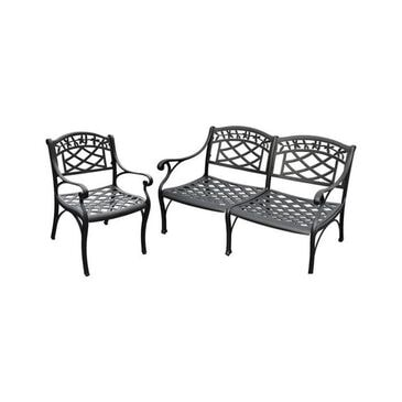 Crosley Furniture Sedona Loveseat and Club Chair in Charcoal Black, , large