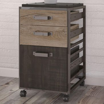 Bush Refinery 3-Drawer Mobile File Cabinet in Rustic Gray, , large
