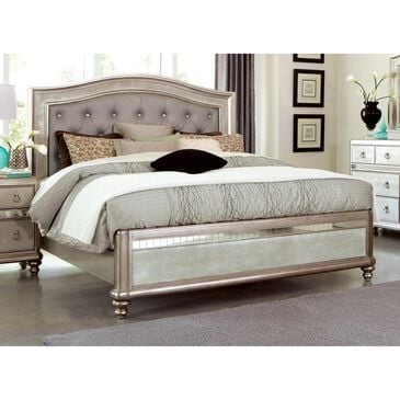 Pacific Landing Bling Game California King Bed in Metallic Platinum, , large