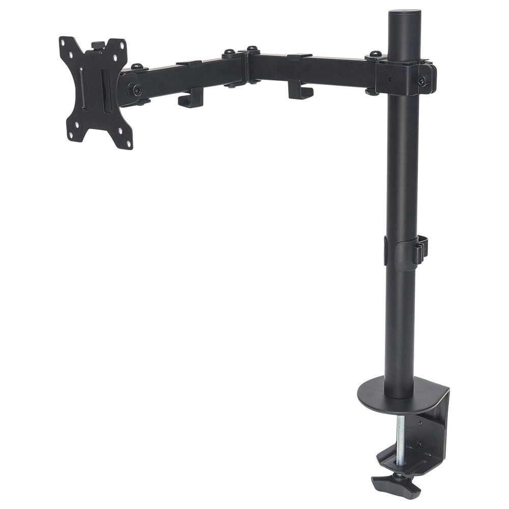 Manhattan Universal Monitor Mount with Double-Link Swing Arm in Black, , large