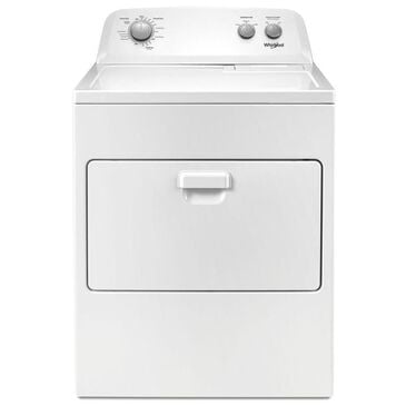 Whirlpool 7 Cu. Ft. Capacity Electric Dryer in White , , large