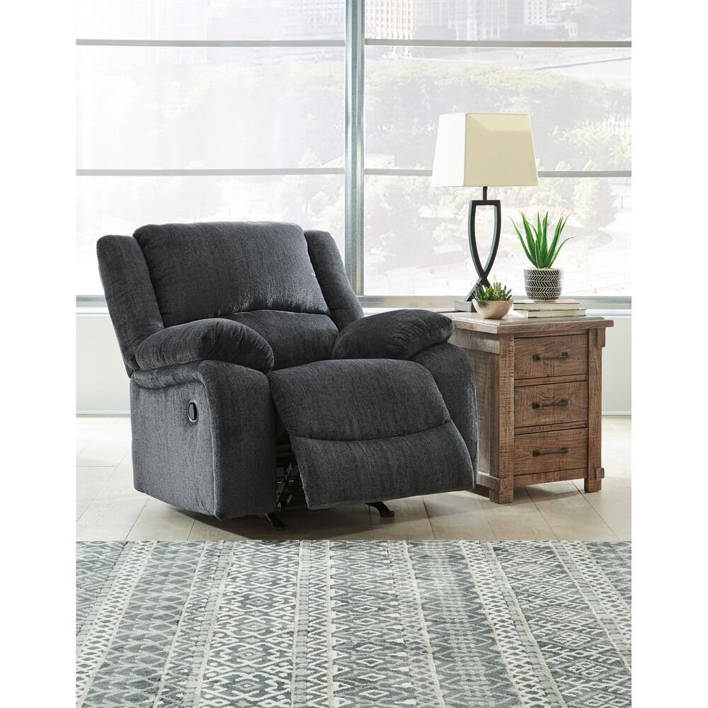 Signature Design by Ashley Draycoll Rocker Recliner in Slate, , large