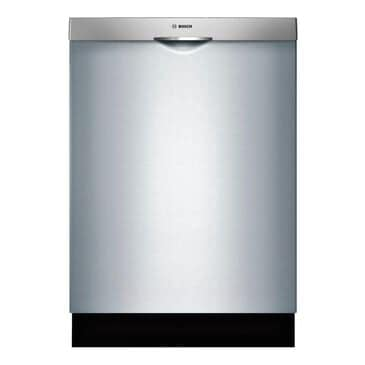 "Bosch 24"" Built-In Scoop Handle Dishwasher in Stainless Steel, , large"
