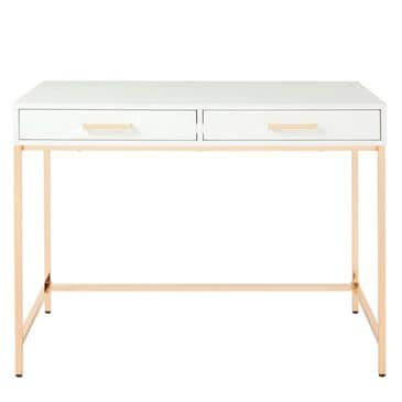 OSP Home Alios Desk in White and Gold, , large