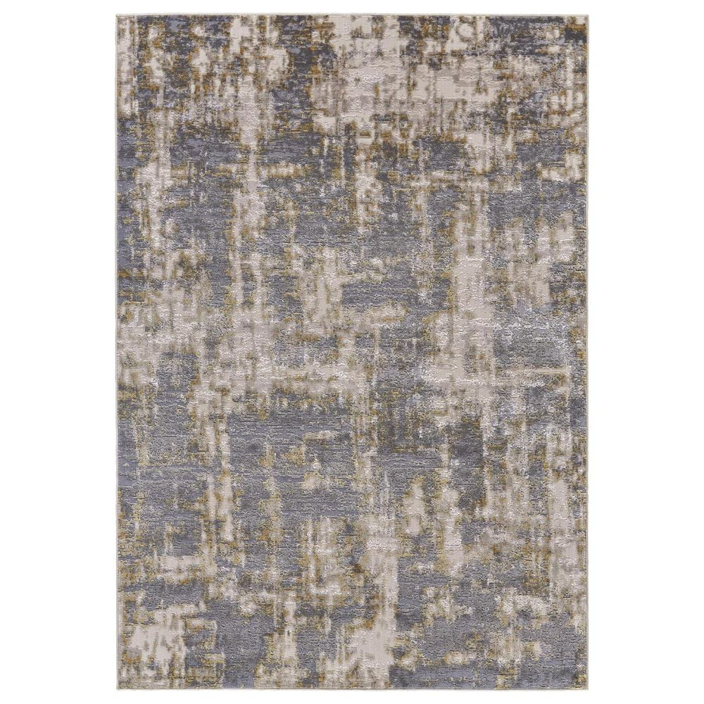 """Feizy Rugs Waldor 3969F 5"""" x 8"""" Gold and Sterling Area Rug, , large"""
