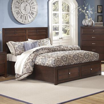 New Heritage Design Kensington Queen Storage Bed in Burnished Cherry, , large
