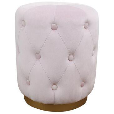 Tov Furniture Skylar Velvet Ottoman in Blush, , large