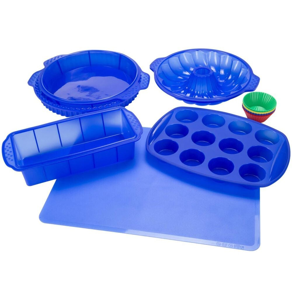 Timberlake Classic Cuisine 18-Piece Silicone Bakeware Set in Blue, , large