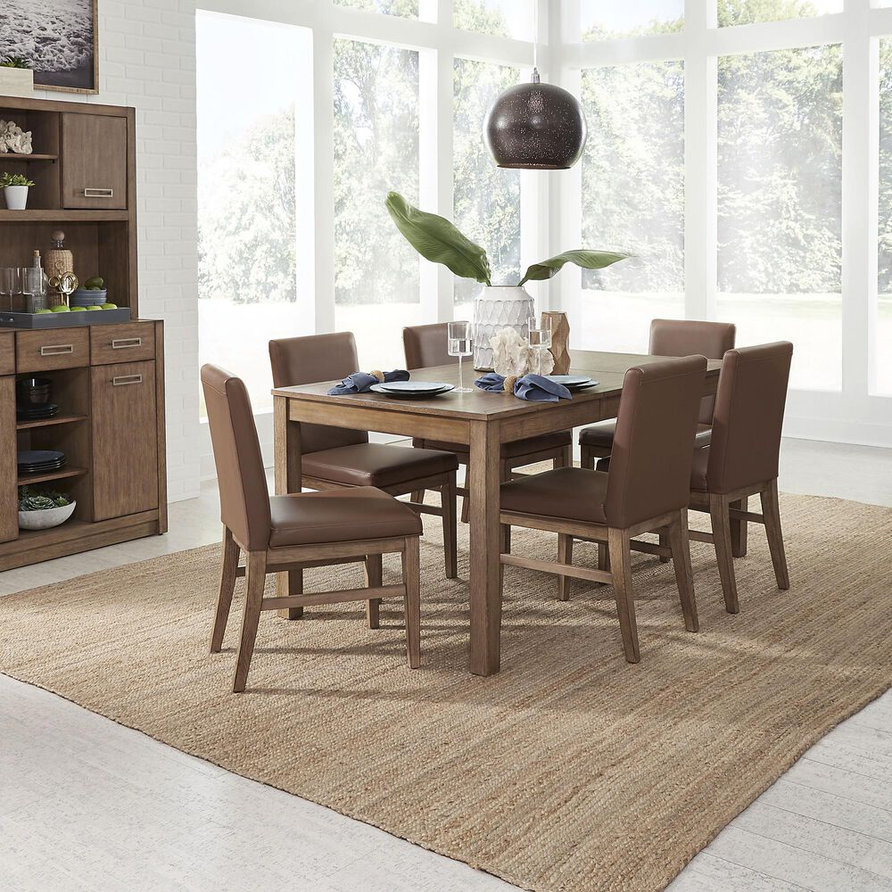Home Styles Big Sur 7-Piece Dining Set in Brown, , large