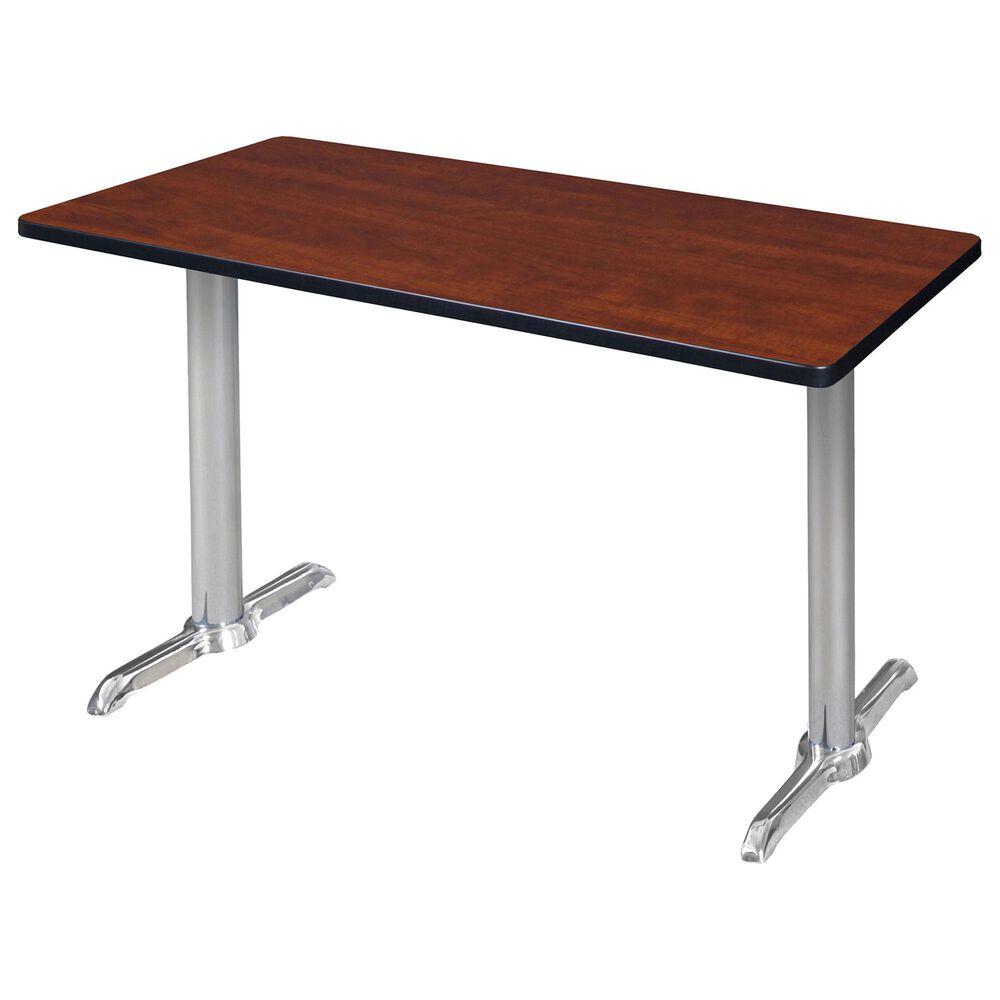 "Regency Global Sourcing Via 42"" x 24"" Training Table in Cherry/Chrome, , large"
