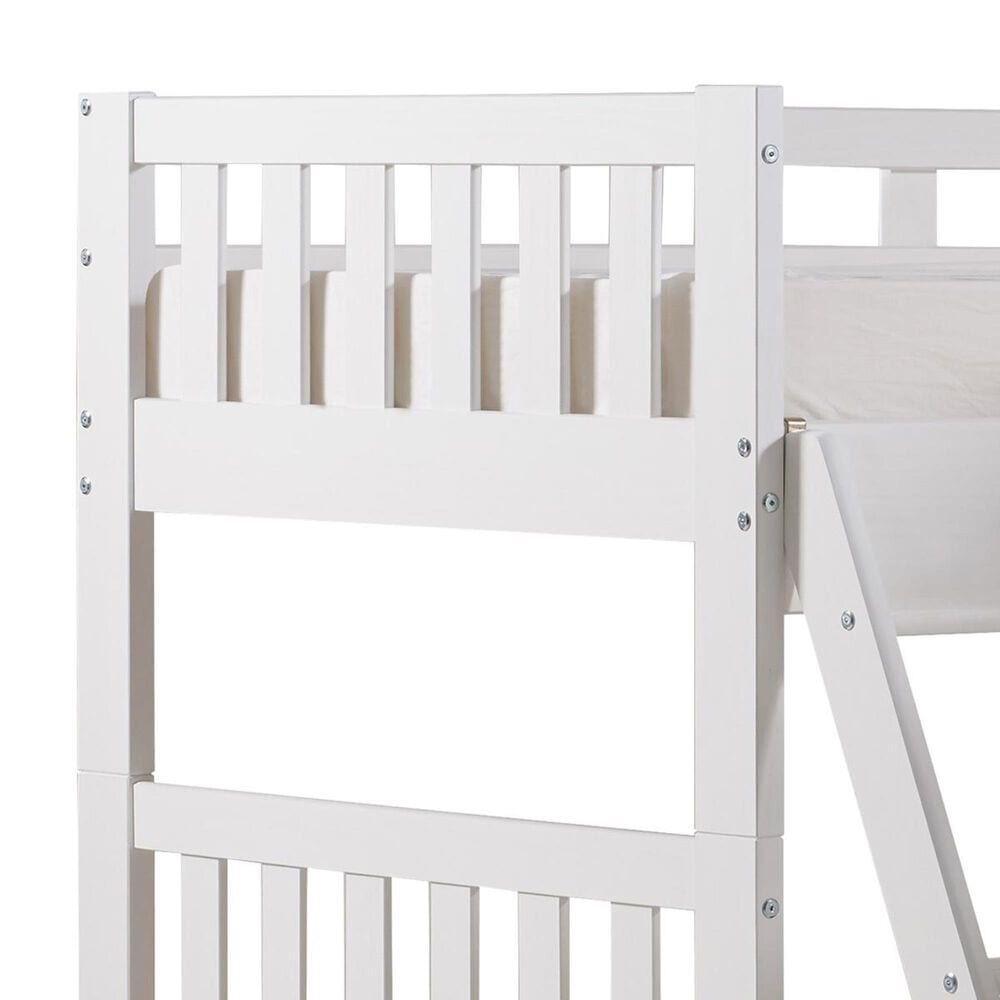 Bolton Furniture Aurora Twin over Twin Bunk Bed with Quad Bunk Extension in White, , large