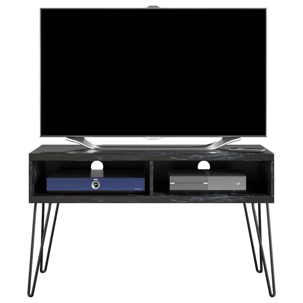 Novogratz Athena TV Stand in Black Marble, , large