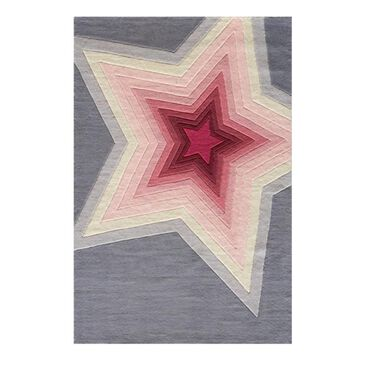 Little Dreamer Lil' Mo Hipster Superstar 3' x 5' Pink Kids Rug, , large