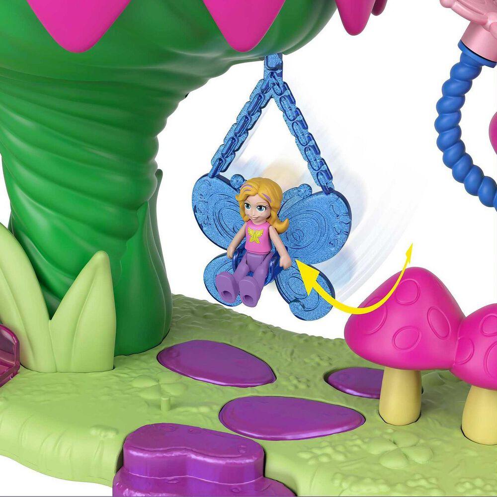 Polly Pocket Rainbow Funland Fairy Flight Ride Playset, , large