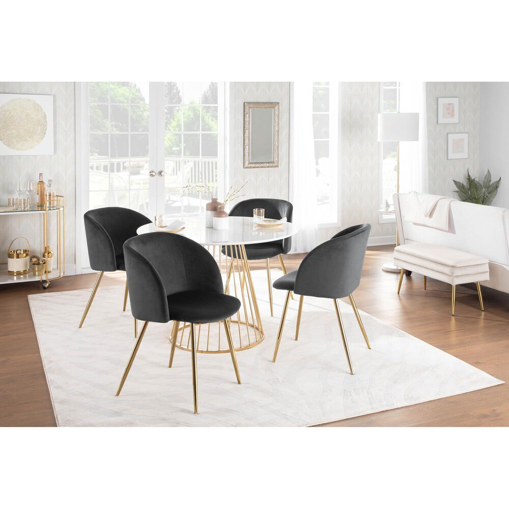 Lumisource Luna Dining Chair in Black/Gold (Set of 2), , large
