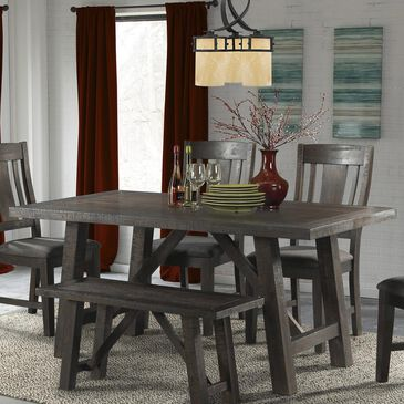 Mayberry Hill Cash Dining Table in Dark Grey Finished Brown - Table Only, , large