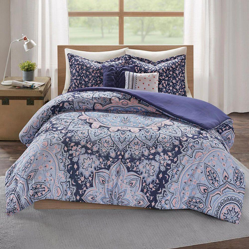 Hampton Park Odette 4-Piece Twin/Twin XL Duvet Cover Set in Blue, , large