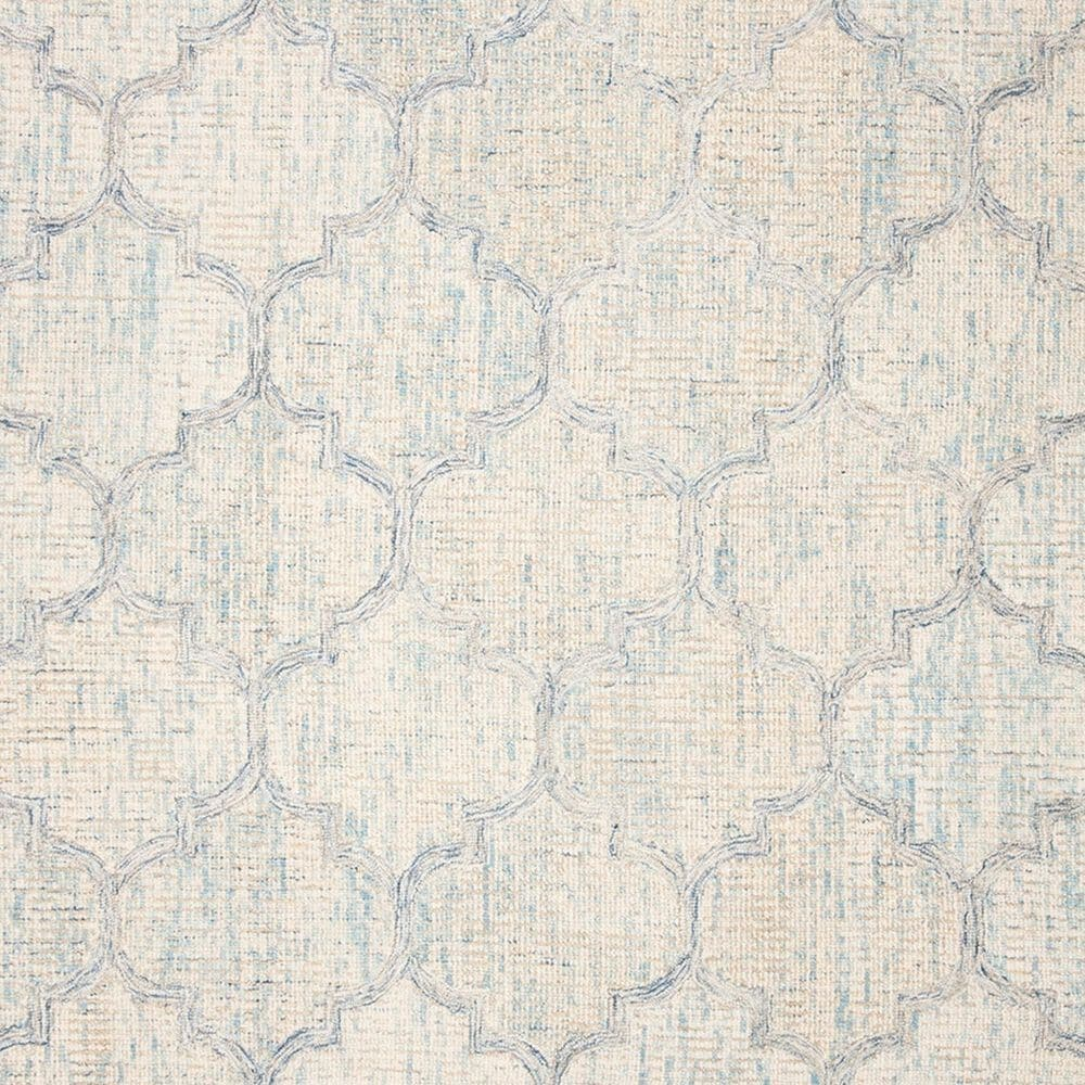 Safavieh Abstract 4' x 6' Ivory and Light Blue Area Rug, , large