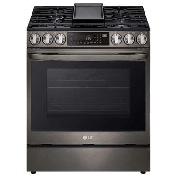 LG 6.3 Cu. Ft. Gas Slide-In Range with Air Fry in Black Stainless Steel, , large