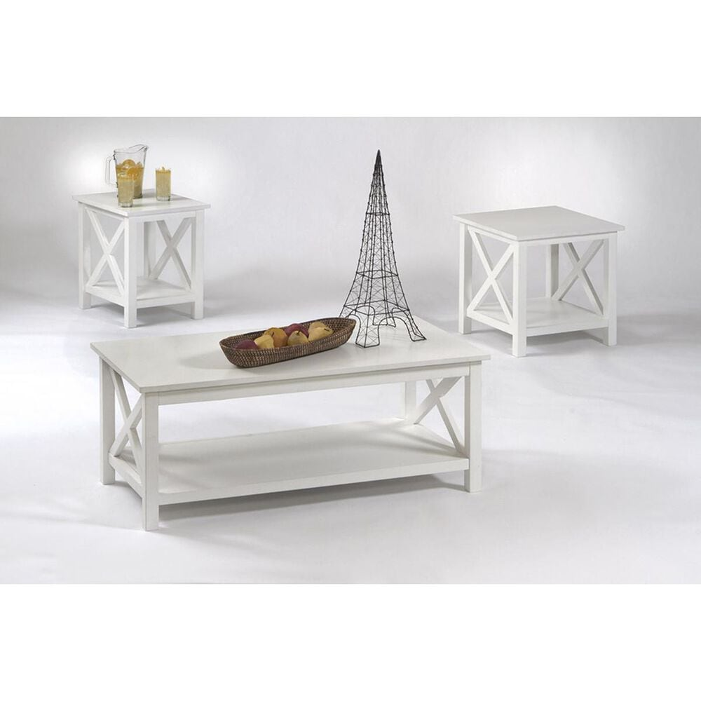 Tiddal Home Seascape Lift Top Cocktail Table Set in Textured White, , large
