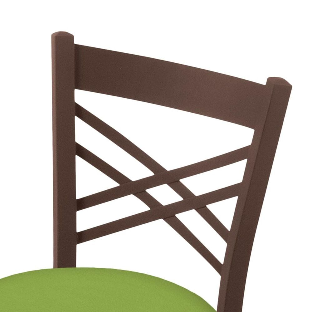 """Holland Bar Stool 620 Catalina 18"""" Chair with Bronze and Canter Kiwi Green Seat, , large"""