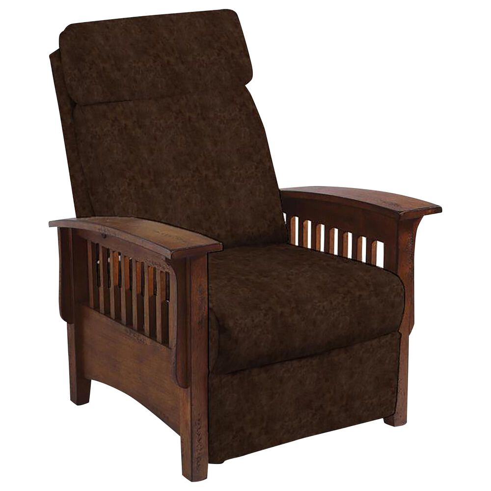 Best Home Furnishings Tuscan Mission 3-Way Recliner in Sable and Distressed Pecan, , large
