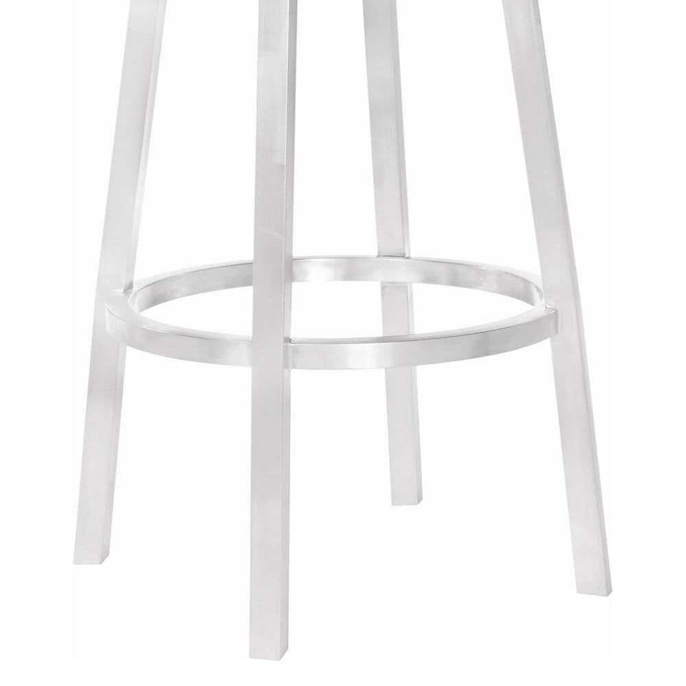 """Blue River Balboa 30"""" Armless Bar Stool in Vintage Gray and Stainless Steel, , large"""