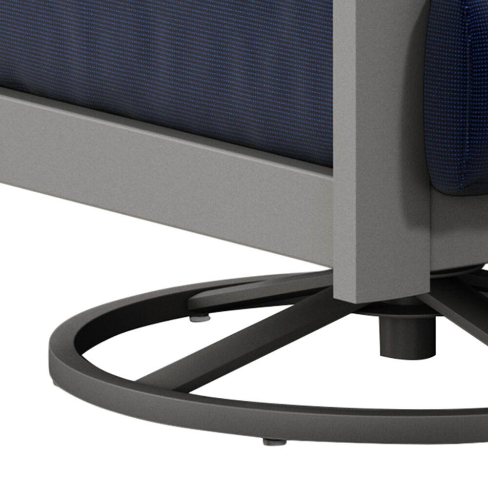 Homecrest Elements High Back Swivel Rocker Chat Chair in Sparkle Navy Blue, , large