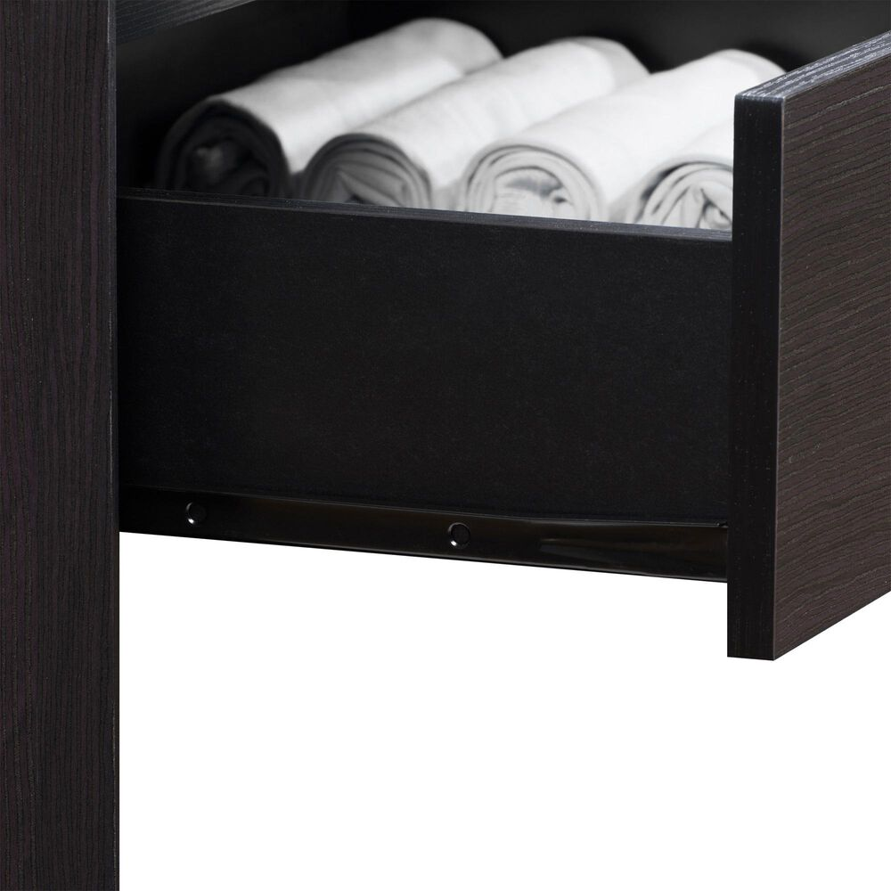 CorLiving Newport 5 Drawer Tall Dresser in Black Oak, , large